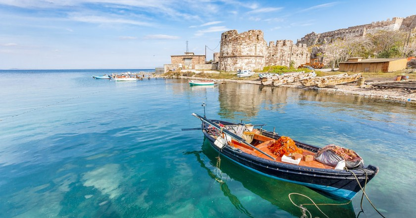Old Harbor of Mytilini in Lesvos Island