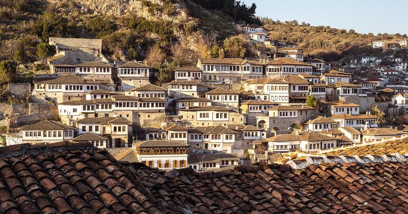 Mangalem quarter in Berat