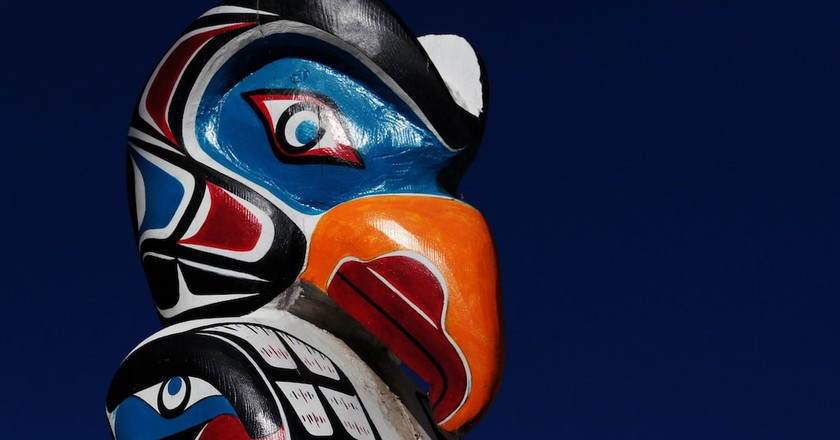 A totem pole | © Bernard Spragg. NZ / Flickr