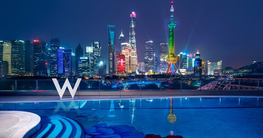 WET bar with views | Courtesy of W Shanghai