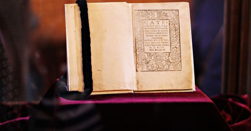 One of the two surviving copies of Mažvyda's Catechism   © Pinkizz / WikiCommons