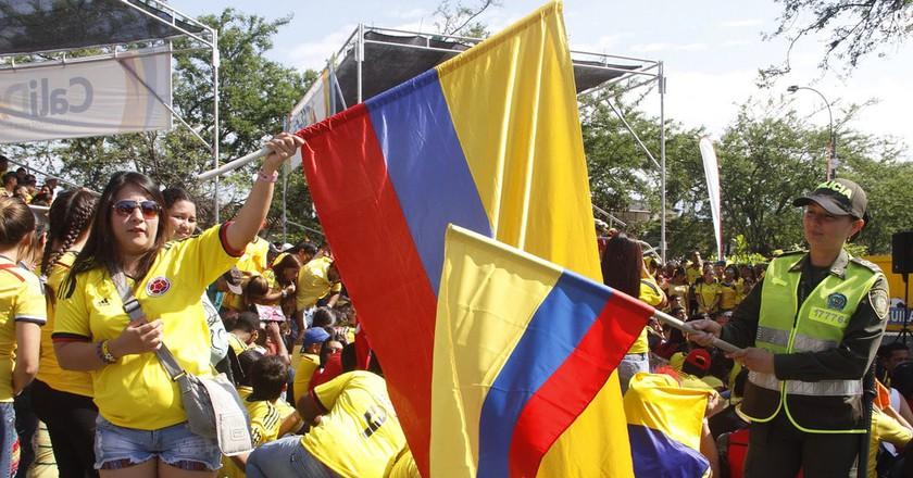 Showing some love for Colombia | © Policía Nacional de los colombianos / Flickr