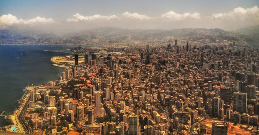 Beirut from the plane  | © Marviikadi/ Flickr