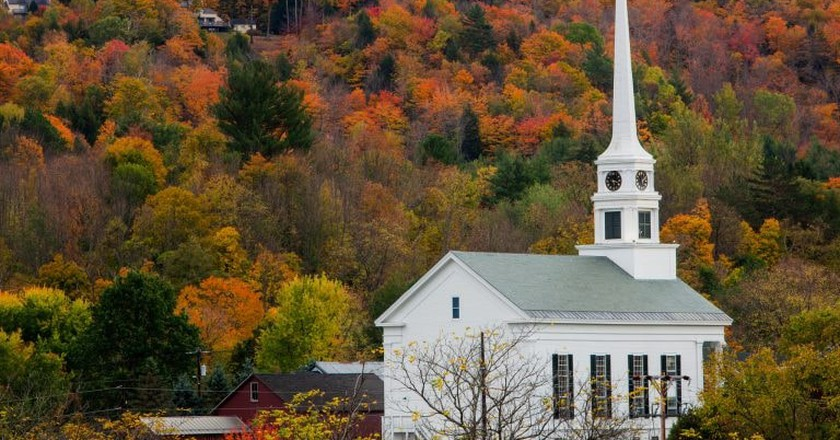 Fall foliage in Stowe | © Anthony Quintano/Flickr