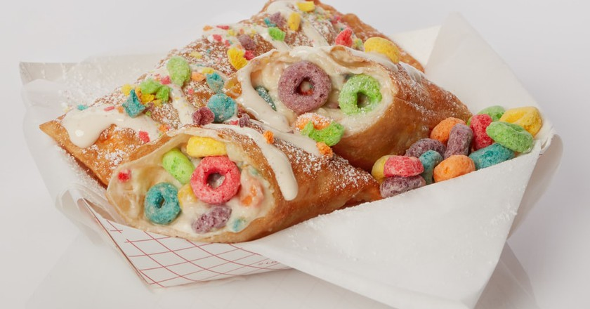 Deep-fried Froot Loops at the State Fair of Texas   © Jason Hays