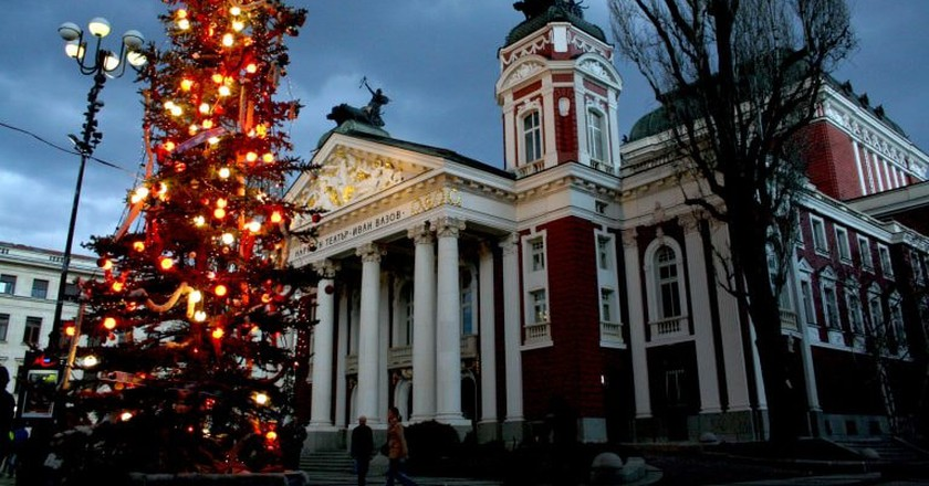 Christmas tree in Sofia, Bulgaria   © Vassil Tzvetanov/Flickr