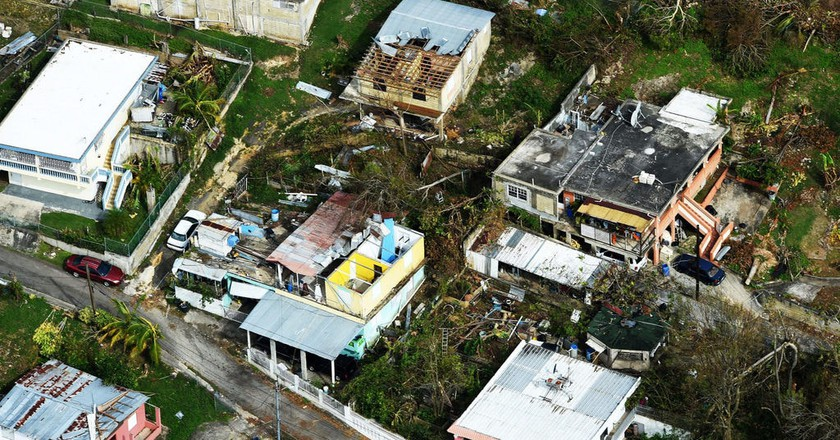 An aerial photo from Puerto Rico after the hurricane | © U.S. Department of Agriculture / Flickr