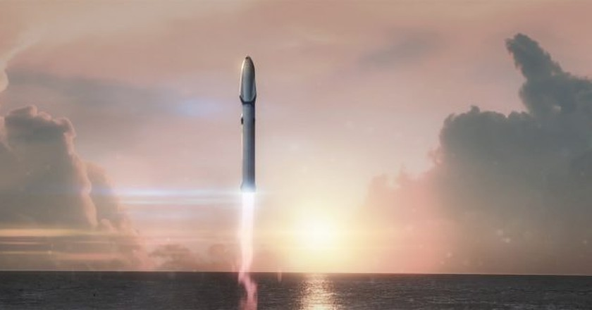 A rendering of SpaceX's BFR | © SpaceX