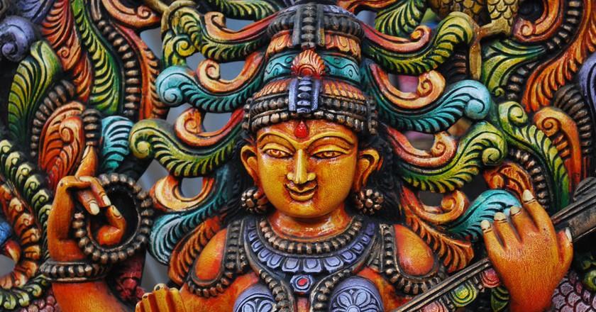 Idol of a goddess | © Harsha K R / Flickr