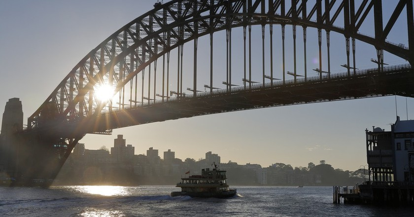 Ferry and  Bridge | © Ed Dunens/Flickr