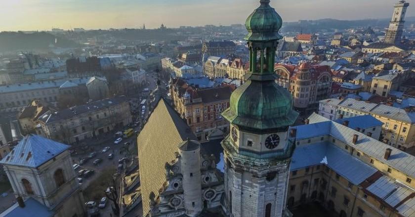 Aerial of Bernardine Church | © Marco Verch/Flickr
