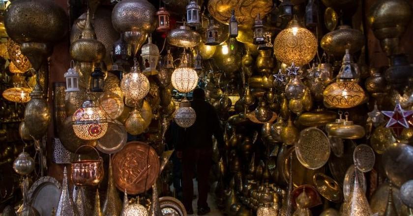 Lanterns in Marrakech's souks   © oliverjpears / Flickr