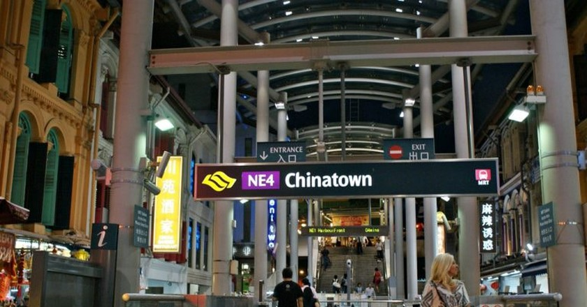 View of Chinatown Station