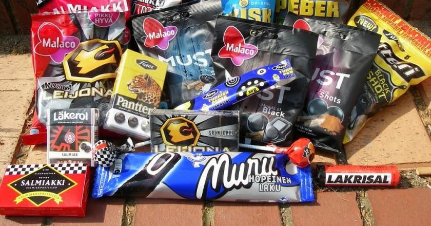 Selection of salmiakki candies   ©Denni Schnapp / Flickr