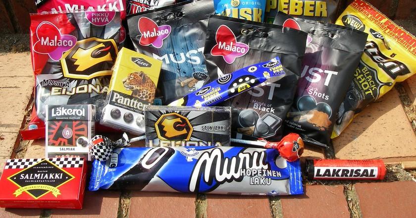 Selection of salmiakki candies | ©Denni Schnapp / Flickr