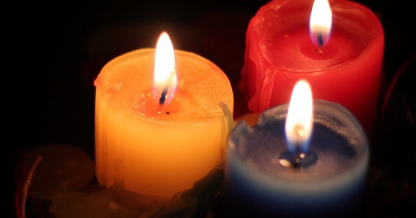 Colombian Christmas candles   © Jonathan Hood / Flickr