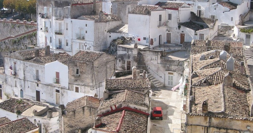 The town of Candela is an hour's drive from the Gargano (pictured) - the spur of Italy's boot   © Roberto Ferrari/Flickr