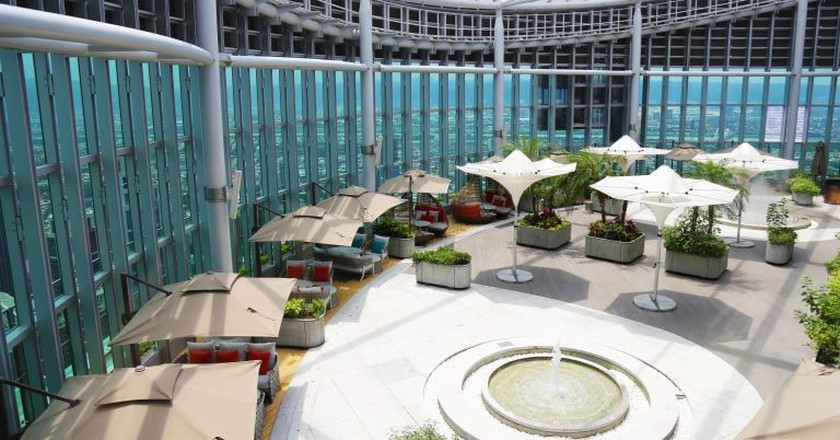 The open-air garden 49 floors up at Asia 49 | Courtesy of Asia 49