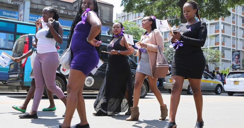 Kenyan women in a past protest march | © Brian Inganga