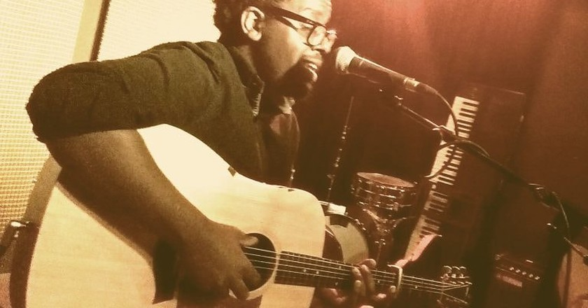 Daudi Matsiko at Bar Bobu open mic | Courtesy of Bar Bobu