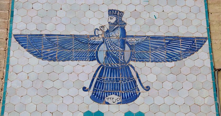 Depiction of Zoroastrian God   © A.Davey/Flickr