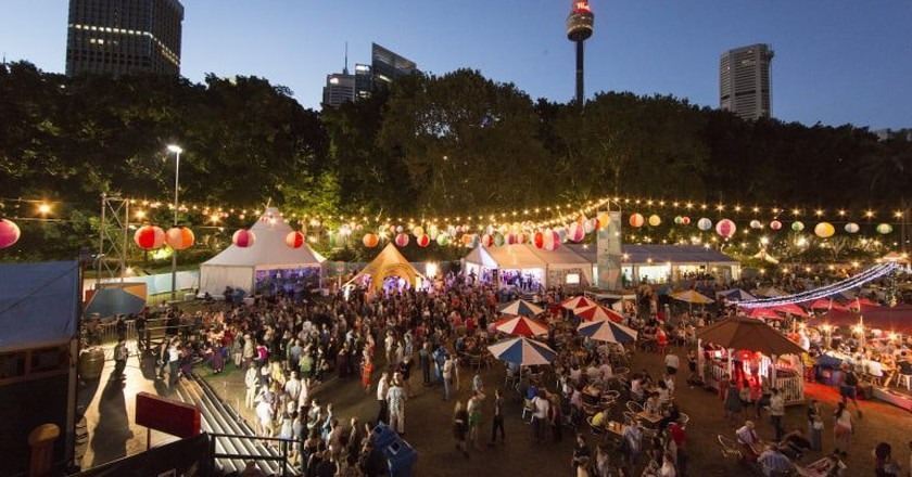 'Festival Village' Sydney Festival 2017 | © Jamie Williams/Courtesy of Sydney Festival