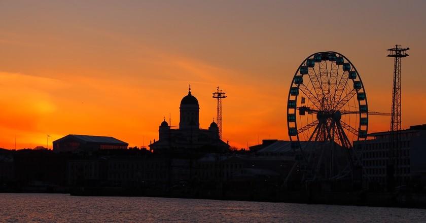 Helsinki at dusk   © Tiina Kaarela / Good Free Photos