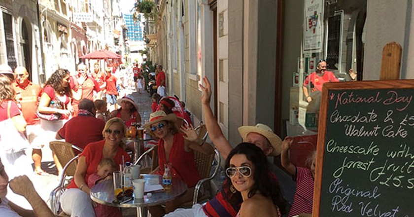 Sacarello's cafe, Gibraltar; courtesy Sacarello's