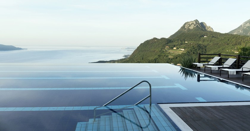 The infinity pool overlooking Lake Garda at Lefay Resort & Spa   © Courtesy of Lefay Resort & Spa