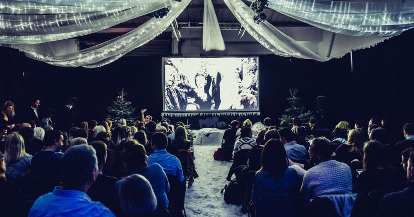 Experience the Best Christmas Films With Pop Up Screens in the Snow