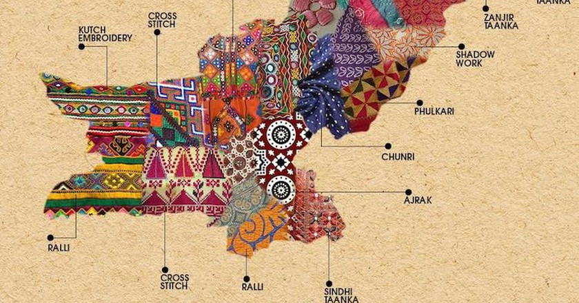 Textile Map of Pakistan | © Generation / Facebook