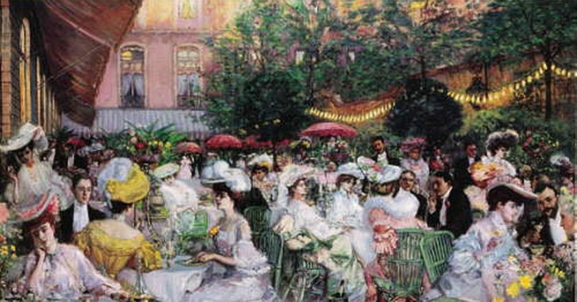 A painting of the Ritz from 1904 by Pierre Georges Jeanniot   © Public Domain/WikiCommons