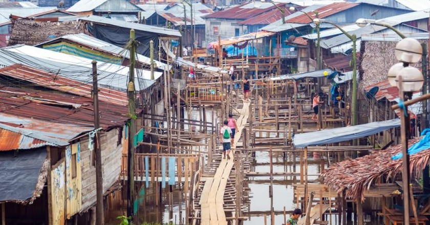 View of the Belen neighborhood in Iquitos, Peru | © Jess Kraft/Shutterstock