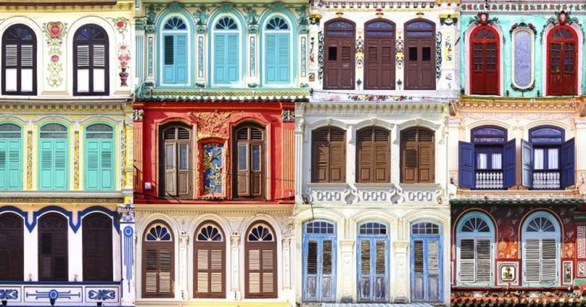 Antique windows at Junker walk, Maleka, Malaysia | © Igor Plotnikov/Shutterstock