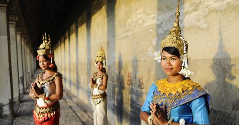 The sampeah is the common greeting in Cambodia