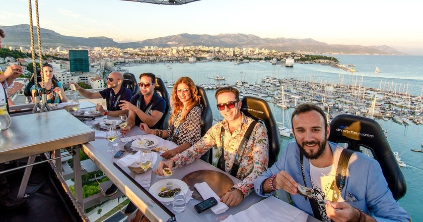 Dinner in the Sky, Split | Courtesy of Dinner in the Sky