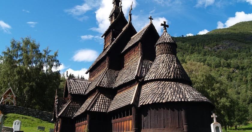 View of Borgund stave church | © zoetnet / Flickr