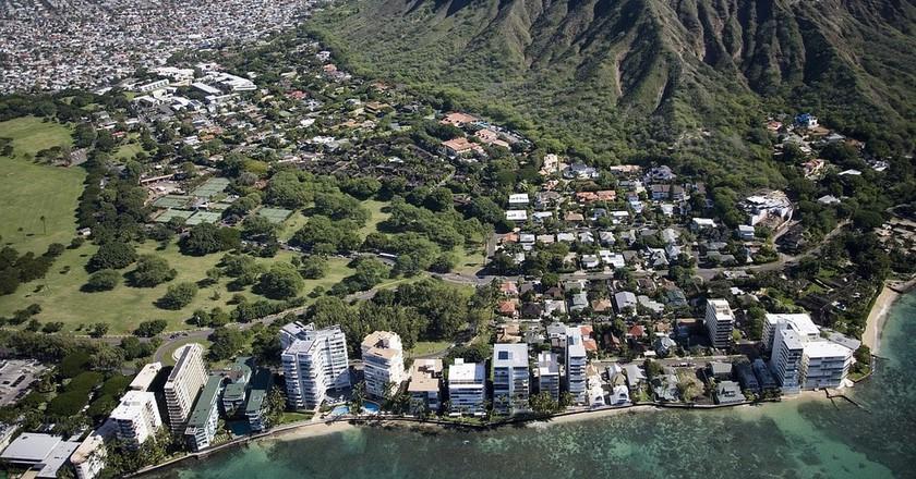 Aerial view of Waikiki Beach | © skeeze / Pixabay
