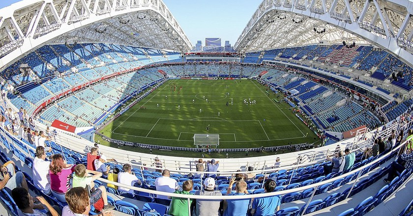 Fisht Olympic Stadium during a 2017 FIFA Confederations Cup match in June 2017|© Edgar Breschanov/Wikimedia Commons