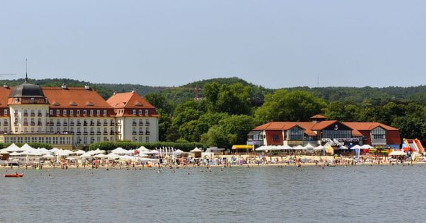 Sopot beach with Grand Hotel | © DerHexer / WikiCommons