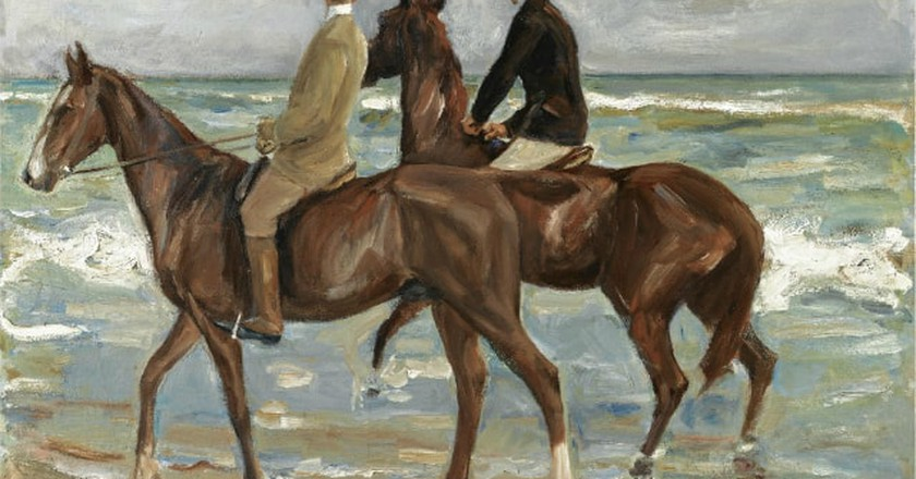 Zwei Reiter am Strand   © Zwei Reiter am Strand bei Sotheby's / WikiCommons