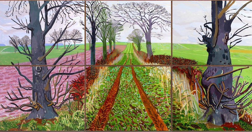 David Hockney, 'A Closer Winter Tunnel, February – March', 2006 | © David Hockney / Richard Schmidt