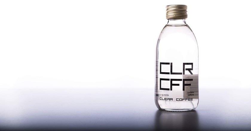 Colorless coffee is now a reality. © Clear Coffee