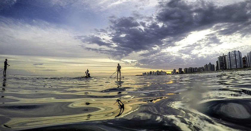Paddle-boarding in Punta del Este