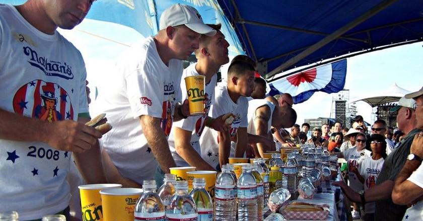 Nathan's Hot Dog Eating Contest   Ashley/Flickr