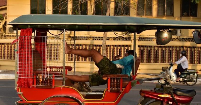 Tuktuks are a common mode of transport