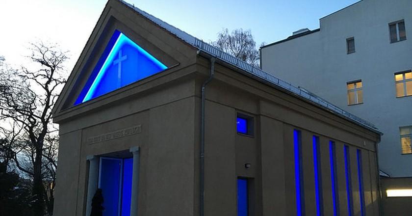 James Turrell's light installation, Dorotheenstädtischer Cemetery, Berlin | © Mangtronix / Flickr