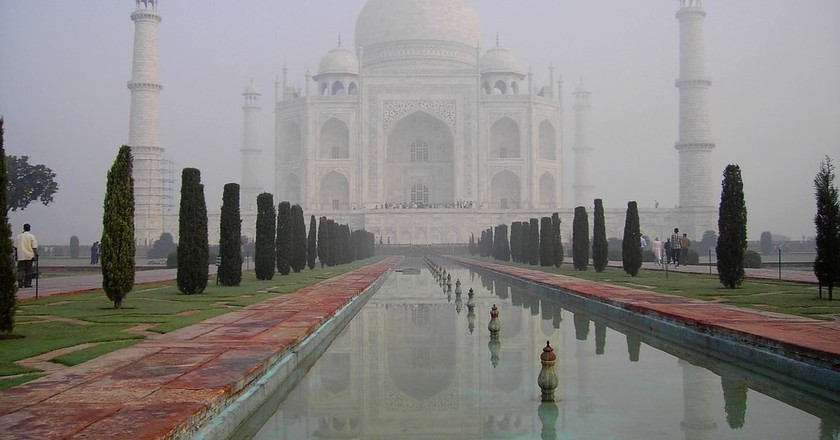 Taj Mahal at dawn   © John Haslam/Flickr