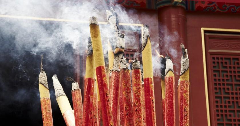 Burning Incense at Shaolin Temple
