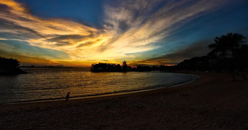 Sunset in Sentosa Island